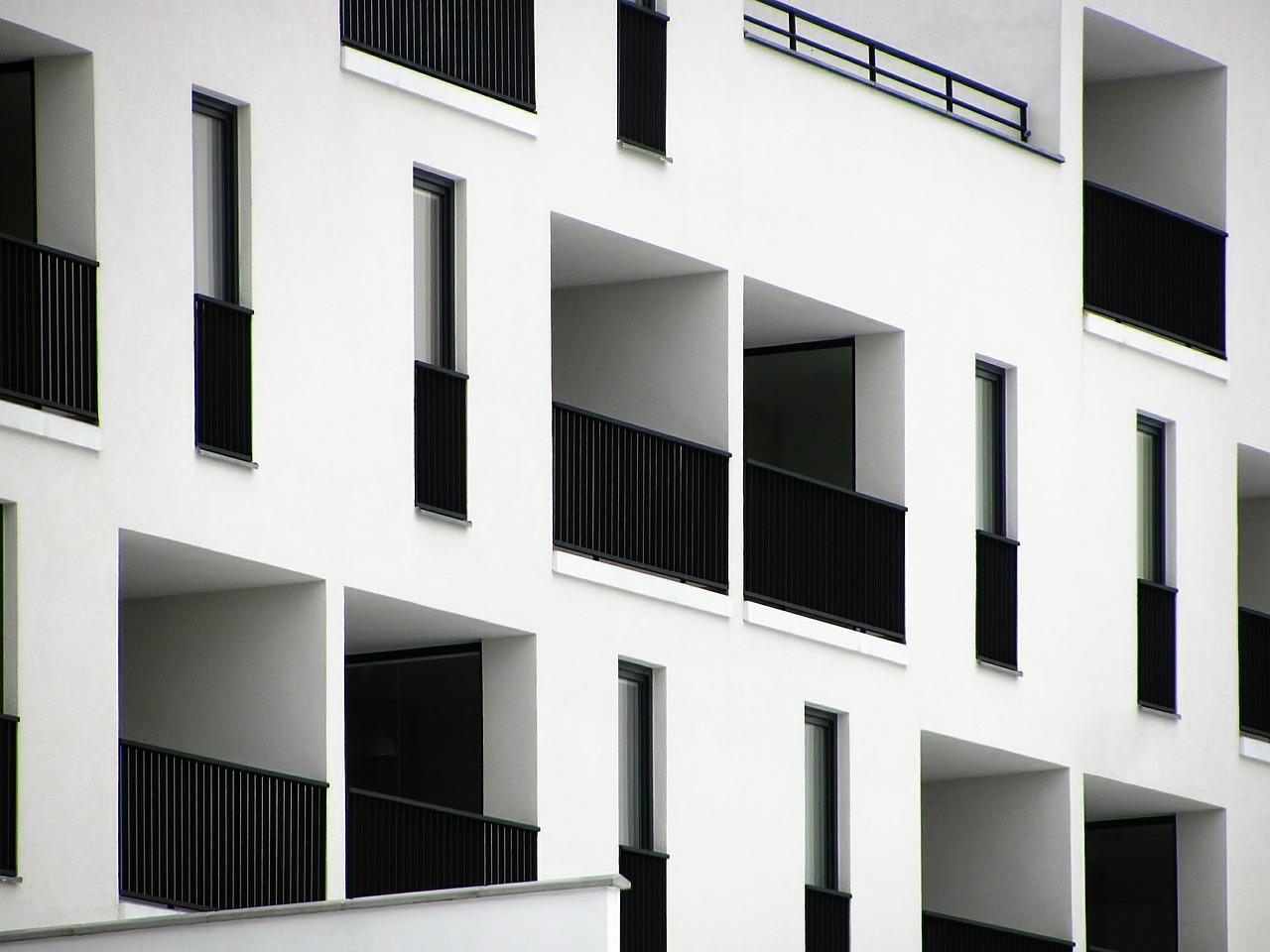 Modern lägenhetsbyggnad