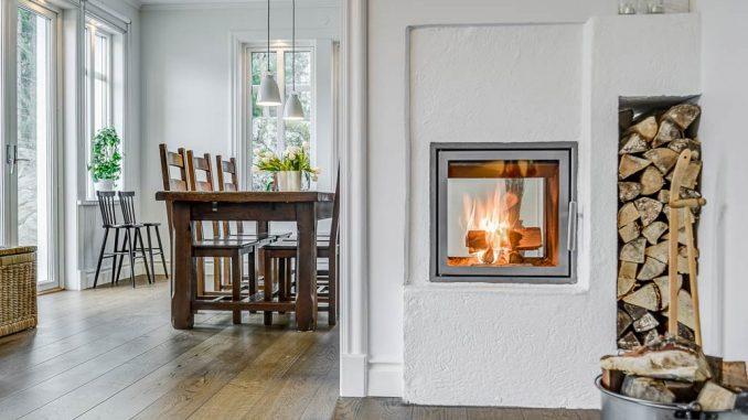 Braskamin infälld i vägg - Byggledarna.se