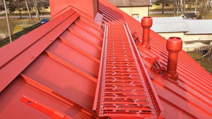 Säkerhetsplattform på tak